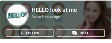 hello look at me